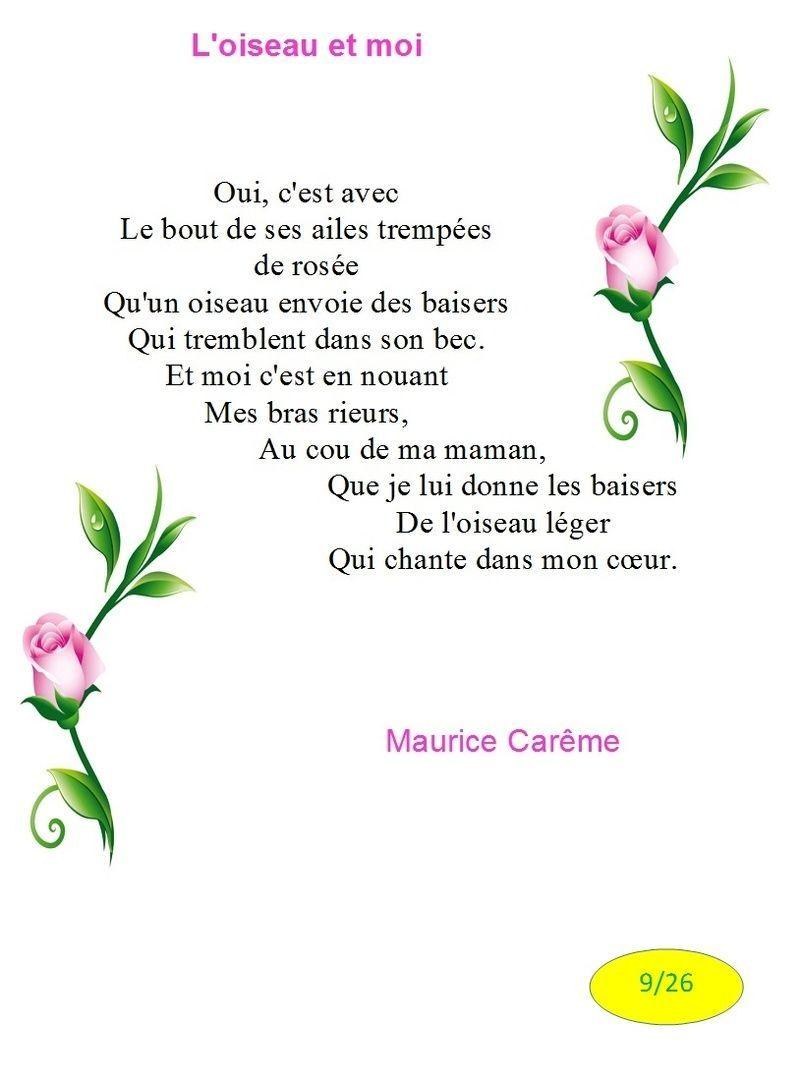 Poeme Loiseau Et Moi De M Careme